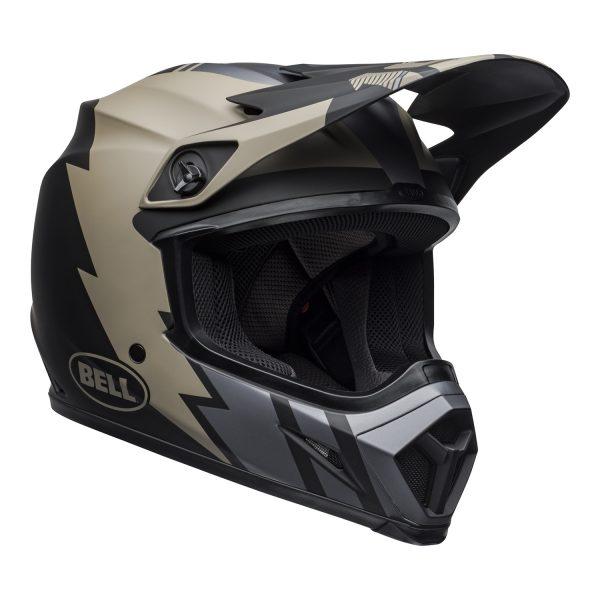bell-mx-9-mips-dirt-helmet-strike-matte-khaki-black-front-right.jpg-Bell MX 2021 MX-9 Mips Adult Helmet (Strike Matte Khaki/Black)