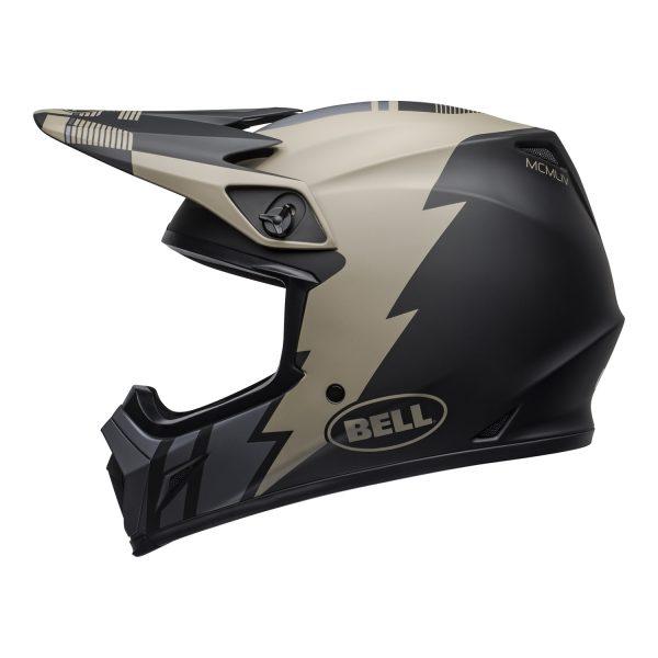 bell-mx-9-mips-dirt-helmet-strike-matte-khaki-black-left.jpg-Bell MX 2021 MX-9 Mips Adult Helmet (Strike Matte Khaki/Black)