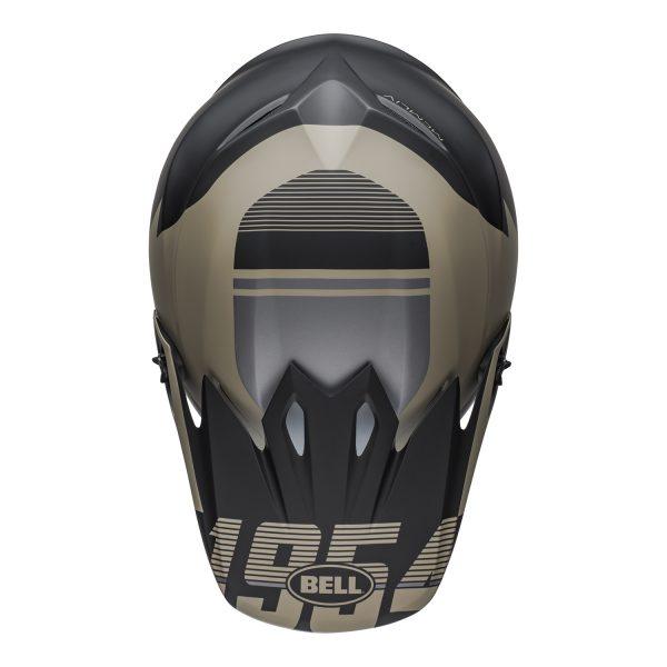 bell-mx-9-mips-dirt-helmet-strike-matte-khaki-black-top.jpg-Bell MX 2021 MX-9 Mips Adult Helmet (Strike Matte Khaki/Black)