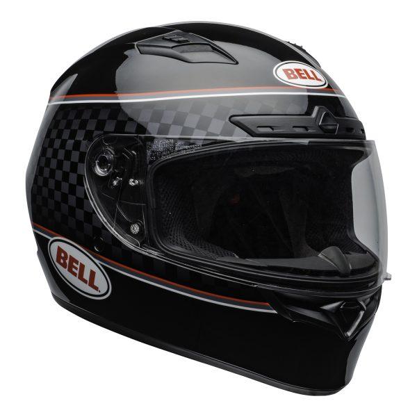 bell-qualifier-dlx-mips-street-helmet-breadwinner-gloss-black-white-clear-shield-front-right-BELL QUALIFIER DLX MIPS BREADWINNER GLOSS BLACK WHITE