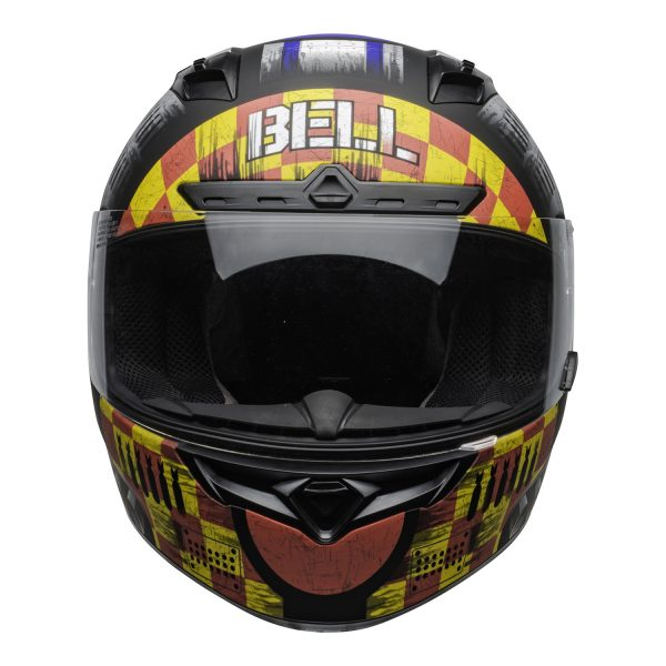 bell-qualifier-dlx-mips-street-helmet-devil-may-care-2020-matte-gray-clear-shield-front-BELL QUALIFIER DLX MIPS DEVIL MAY CARE MATT GREY
