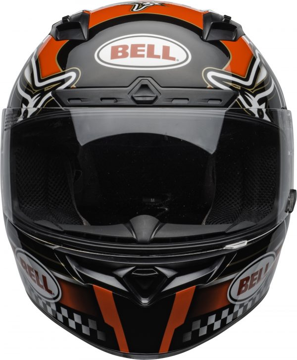 bell-qualifier-dlx-mips-street-helmet-isle-of-man-2020-gloss-red-black-white-clear-shield-front-BELL QUALIFIER DLX MIPS ISLE OF MAN GLOSS BLACK RED