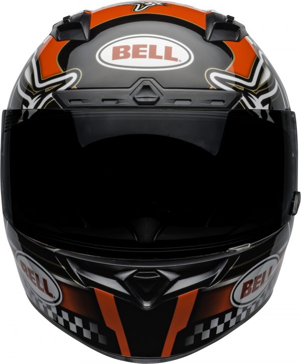 bell-qualifier-dlx-mips-street-helmet-isle-of-man-2020-gloss-red-black-white-front-BELL QUALIFIER DLX MIPS ISLE OF MAN GLOSS BLACK RED