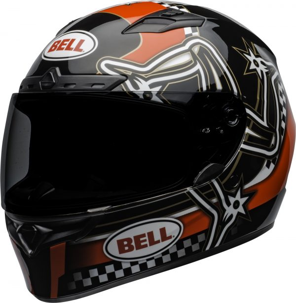 bell-qualifier-dlx-mips-street-helmet-isle-of-man-2020-gloss-red-black-white-front-left-BELL QUALIFIER DLX MIPS ISLE OF MAN GLOSS BLACK RED