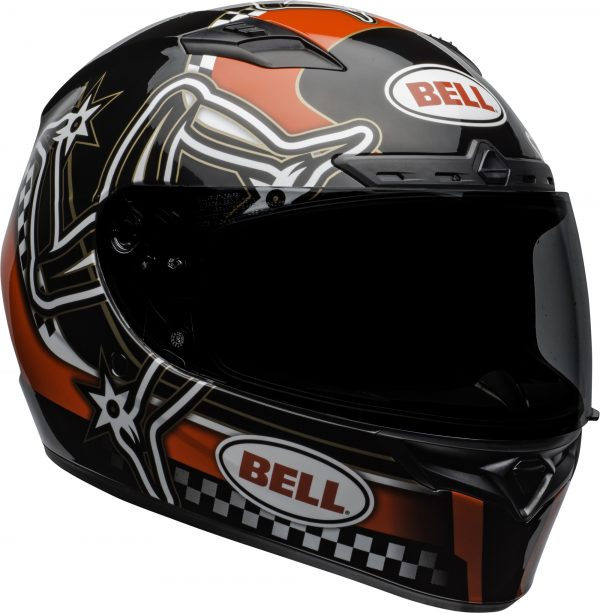 bell-qualifier-dlx-mips-street-helmet-isle-of-man-2020-gloss-red-black-white-front-right-BELL QUALIFIER DLX MIPS ISLE OF MAN GLOSS BLACK RED