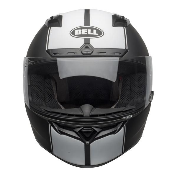 bell-qualifier-dlx-mips-street-helmet-rally-matte-black-white-front-clear-shield_copy__35260.1601550706.jpg-BELL QUALIFIER DLX MIPS RALLY BLACK WHITE