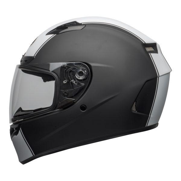 bell-qualifier-dlx-mips-street-helmet-rally-matte-black-white-left-clear-shield-BELL QUALIFIER DLX MIPS RALLY BLACK WHITE