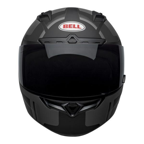 bell-qualifier-dlx-mips-street-helmet-torque-matte-black-gray-front-BELL QUALIFIER DLX MIPS TORQUE MATT BLACK GREY
