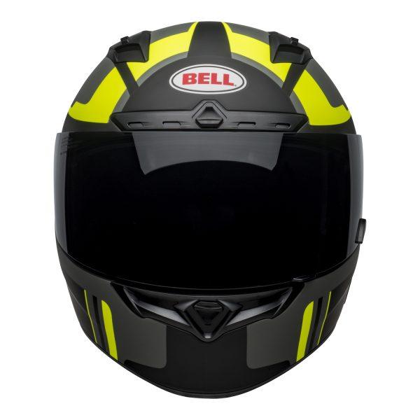 bell-qualifier-dlx-mips-street-helmet-torque-matte-black-hi-viz-front.jpg-BELL QUALIFIER DLX MIPS TORQUE MATT BLACK HI-VIZ