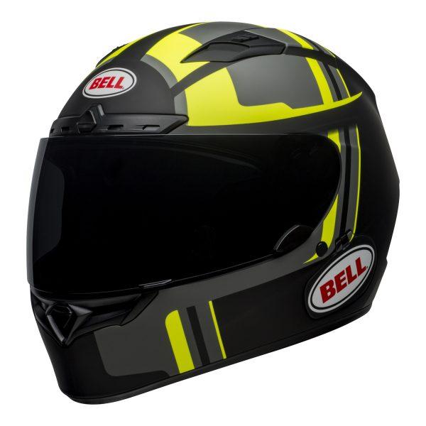 bell-qualifier-dlx-mips-street-helmet-torque-matte-black-hi-viz-front-left.jpg-BELL QUALIFIER DLX MIPS TORQUE MATT BLACK HI-VIZ