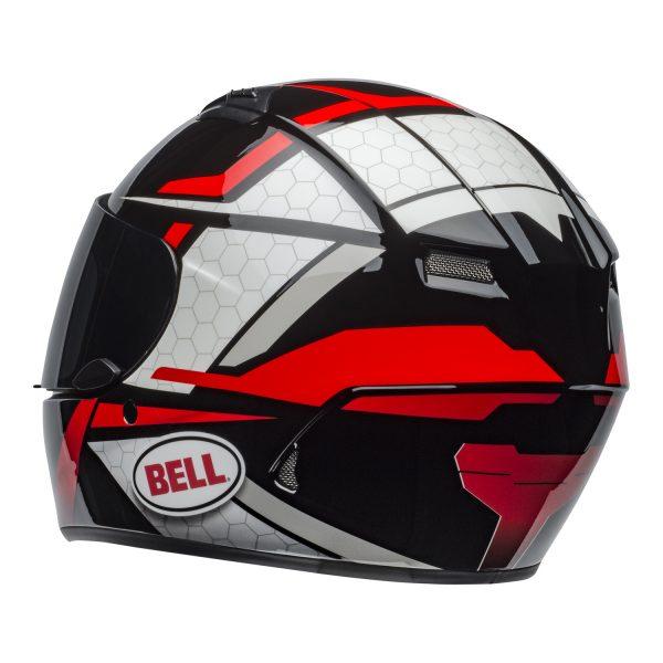 bell-qualifier-street-helmet-flare-gloss-black-red-back-left-BELL QUALIFIER STD STEALTH CAMO MATT BLACK WHITE