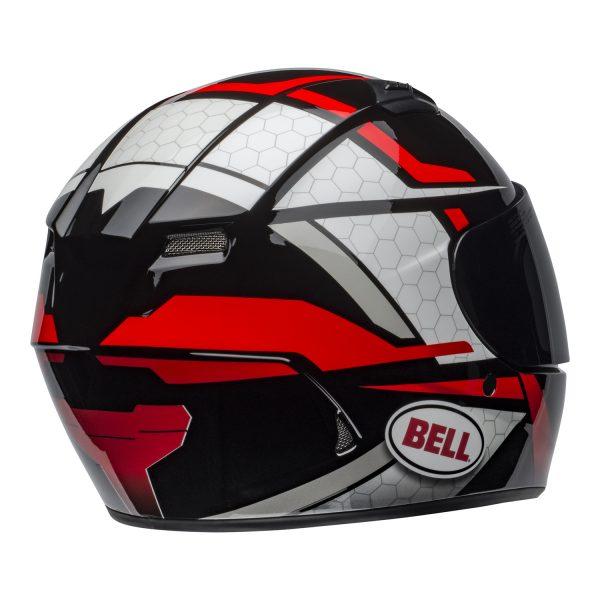 bell-qualifier-street-helmet-flare-gloss-black-red-back-right-BELL QUALIFIER STD STEALTH CAMO MATT BLACK WHITE