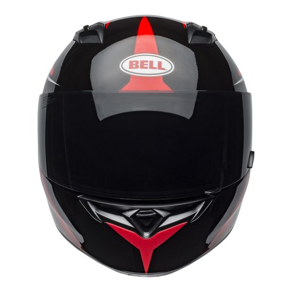 bell-qualifier-street-helmet-flare-gloss-black-red-front-BELL QUALIFIER STD STEALTH CAMO MATT BLACK WHITE