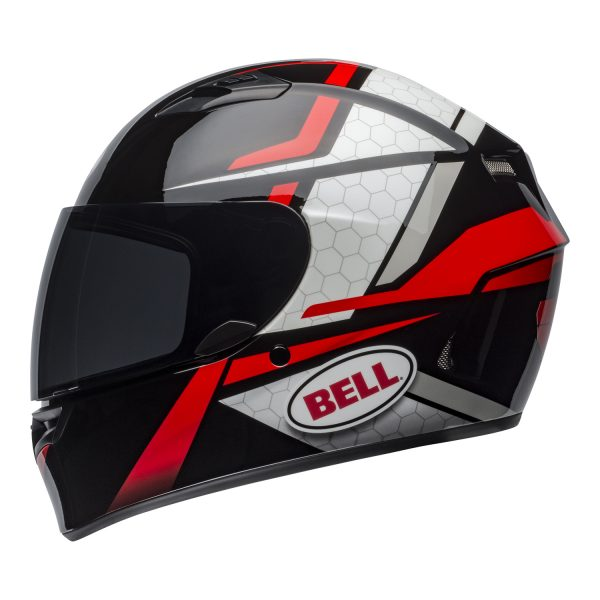 bell-qualifier-street-helmet-flare-gloss-black-red-left-BELL QUALIFIER STD STEALTH CAMO MATT BLACK WHITE