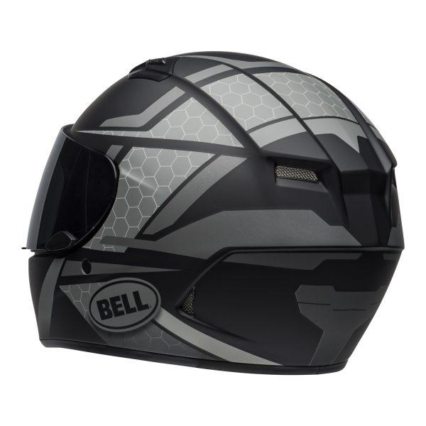 bell-qualifier-street-helmet-flare-matte-black-gray-back-left-BELL QUALIFIER STD STEALTH CAMO MATT BLACK WHITE