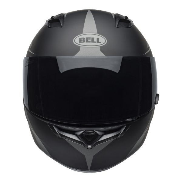 bell-qualifier-street-helmet-flare-matte-black-gray-front-BELL QUALIFIER STD STEALTH CAMO MATT BLACK WHITE