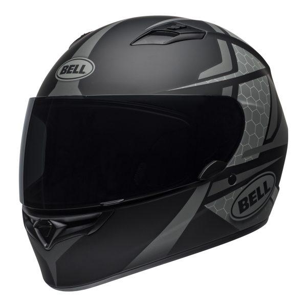 bell-qualifier-street-helmet-flare-matte-black-gray-front-left.jpg-BELL QUALIFIER STD FLARE MATT GREY BLACK