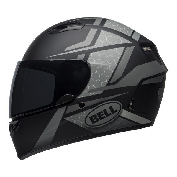 bell-qualifier-street-helmet-flare-matte-black-gray-left.jpg-BELL QUALIFIER STD FLARE MATT GREY BLACK