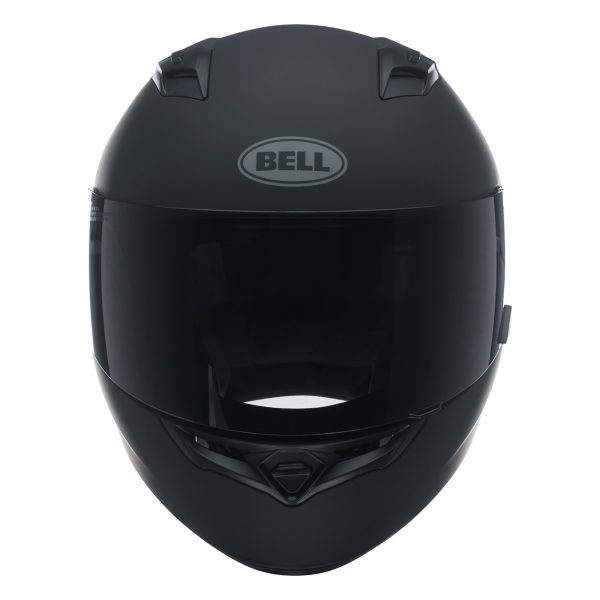 bell-qualifier-street-helmet-matte-black-front-BELL QUALIFIER STD STEALTH CAMO MATT BLACK WHITE