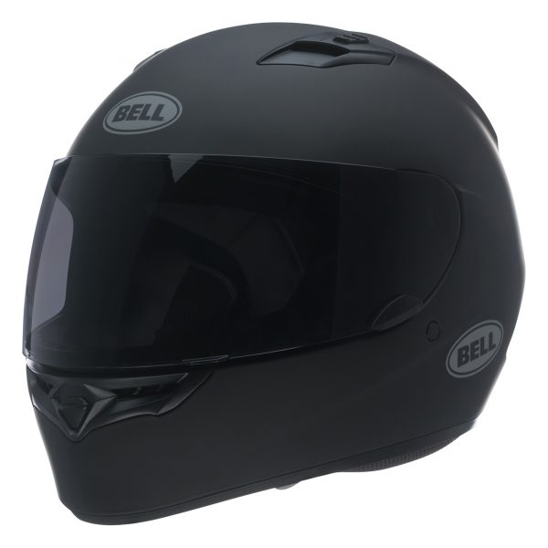 bell-qualifier-street-helmet-matte-black-front-left-BELL QUALIFIER STD STEALTH CAMO MATT BLACK WHITE