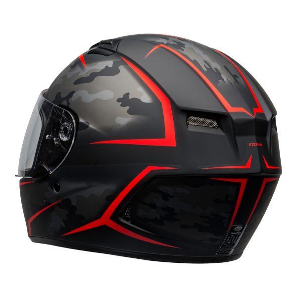 bell-qualifier-street-helmet-stealth-camo-matte-black-red-clear-shield-back-left-BELL QUALIFIER STD STEALTH CAMO MATT BLACK WHITE