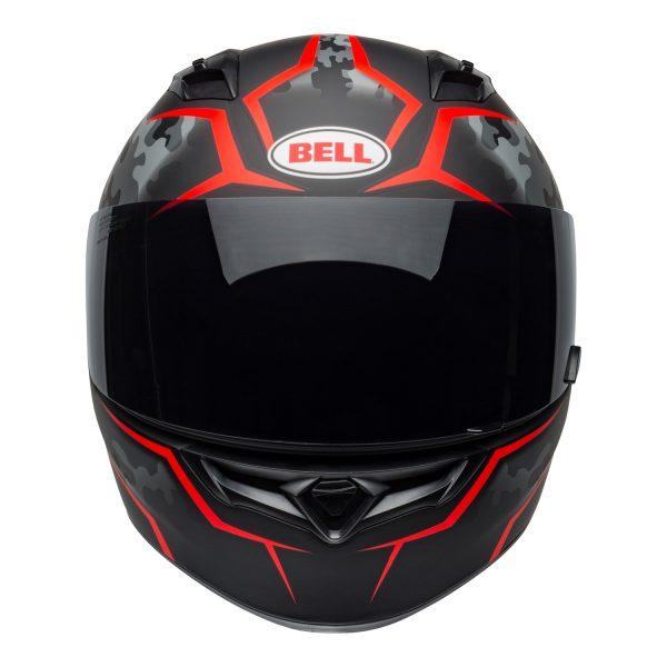 bell-qualifier-street-helmet-stealth-camo-matte-black-red-front-BELL QUALIFIER STD STEALTH CAMO MATT BLACK WHITE