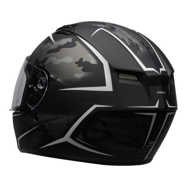 bell-qualifier-street-helmet-stealth-camo-matte-black-white-clear-shield-back-left-BELL QUALIFIER STD STEALTH CAMO MATT BLACK WHITE
