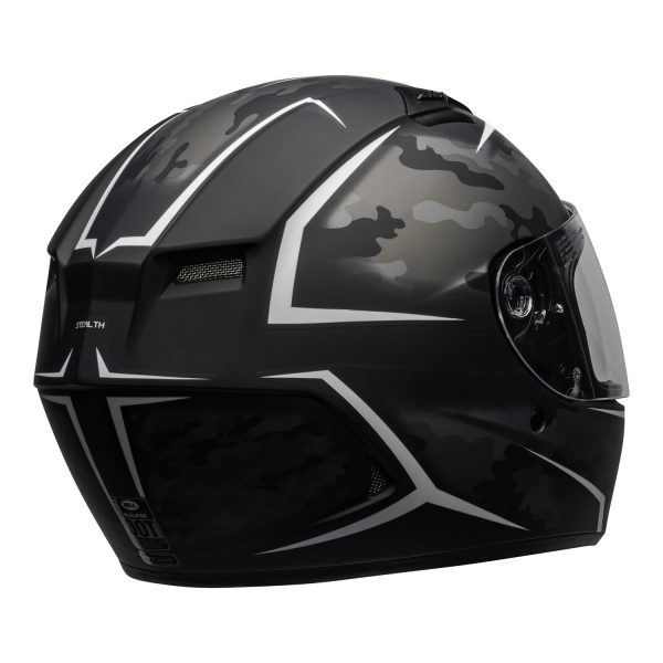 bell-qualifier-street-helmet-stealth-camo-matte-black-white-clear-shield-back-right-BELL QUALIFIER STD STEALTH CAMO MATT BLACK WHITE