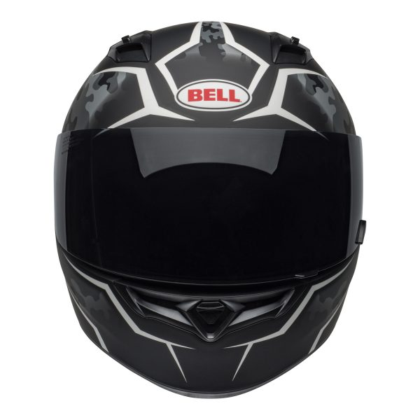 bell-qualifier-street-helmet-stealth-camo-matte-black-white-front-BELL QUALIFIER STD STEALTH CAMO MATT BLACK WHITE