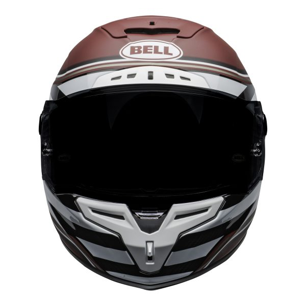 bell-race-star-flex-dlx-ece-street-helmet-rsd-the-zone-matte-gloss-white-candy-red-front.jpg-Bell Street 2021 Race Star DLX Adult Helmet (RSD The Zone M/G White/Candy Red)