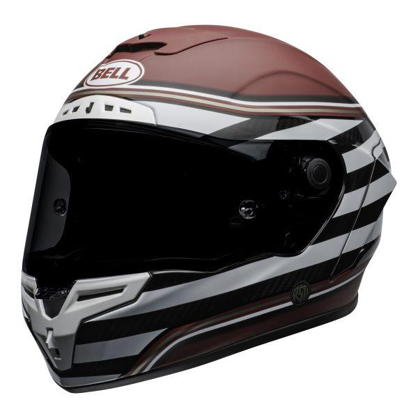 bell-race-star-flex-dlx-ece-street-helmet-rsd-the-zone-matte-gloss-white-candy-red-front-left.jpg-Bell Street 2021 Race Star DLX Adult Helmet (RSD The Zone M/G White/Candy Red)