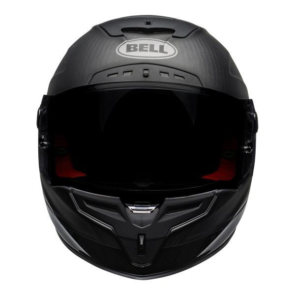 bell-race-star-flex-dlx-ece-street-helmet-velocity-matte-gloss-black-front.jpg-Bell Street 2021 Race Star DLX Adult Helmet (Velocity M/G Black)