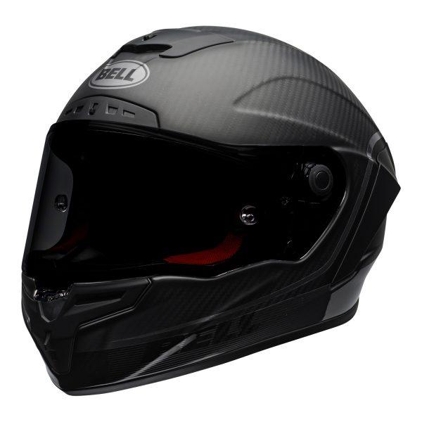 bell-race-star-flex-dlx-ece-street-helmet-velocity-matte-gloss-black-front-left.jpg-Bell Street 2021 Race Star DLX Adult Helmet (Velocity M/G Black)