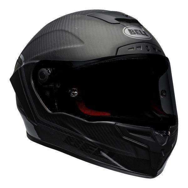 bell-race-star-flex-dlx-ece-street-helmet-velocity-matte-gloss-black-front-right.jpg-Bell Street 2021 Race Star DLX Adult Helmet (Velocity M/G Black)