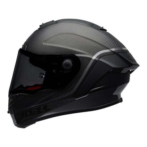 bell-race-star-flex-dlx-ece-street-helmet-velocity-matte-gloss-black-left.jpg-Bell Street 2021 Race Star DLX Adult Helmet (Velocity M/G Black)