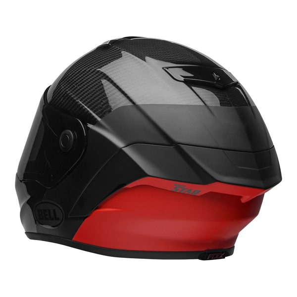 bell-race-star-flex-dlx-street-helmet-carbon-lux-matte-gloss-black-red-back-left__25393.1601545018.jpg-Bell Street 2021 Race Star Flex DLX Adult Helmet (Lux M/G Black/Red)
