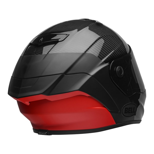 bell-race-star-flex-dlx-street-helmet-carbon-lux-matte-gloss-black-red-back-right-clear-shield__99671.1601545018.jpg-Bell Street 2021 Race Star Flex DLX Adult Helmet (Lux M/G Black/Red)