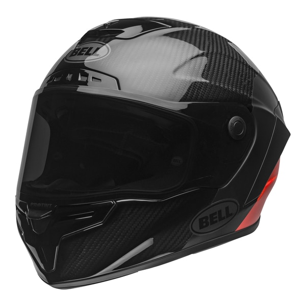 bell-race-star-flex-dlx-street-helmet-carbon-lux-matte-gloss-black-red-front-left-clear-shield__01312.1601545019.jpg-Bell Street 2021 Race Star Flex DLX Adult Helmet (Lux M/G Black/Red)