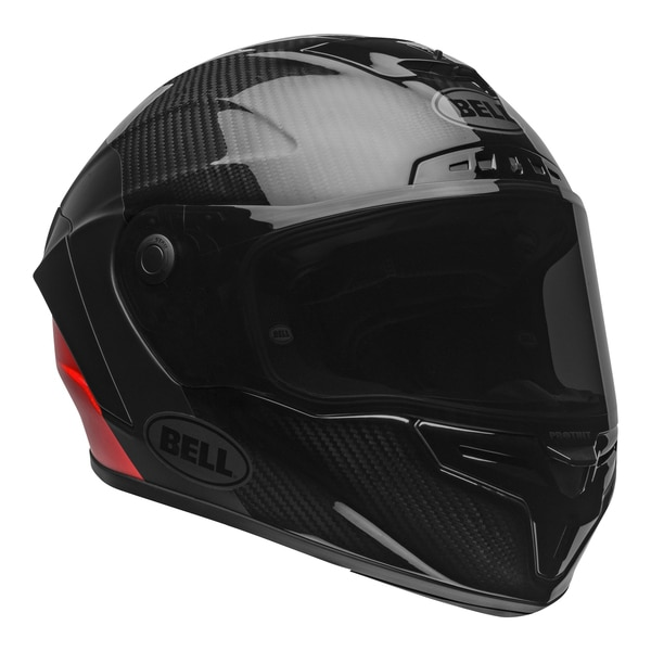 bell-race-star-flex-dlx-street-helmet-carbon-lux-matte-gloss-black-red-front-right-clear-shield__18977.1601545019.jpg-Bell Street 2021 Race Star Flex DLX Adult Helmet (Lux M/G Black/Red)