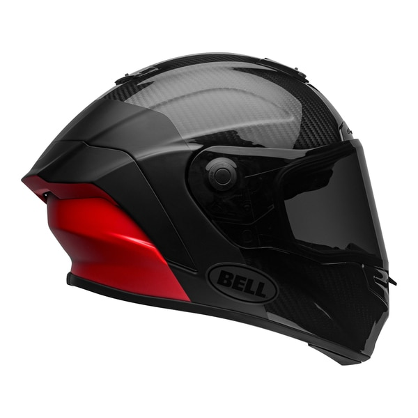 bell-race-star-flex-dlx-street-helmet-carbon-lux-matte-gloss-black-red-right-clear-shield__21247.1601545018.jpg-Bell Street 2021 Race Star Flex DLX Adult Helmet (Lux M/G Black/Red)