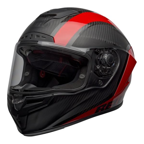bell-race-star-flex-dlx-street-helmet-tantrum-2-matte-gloss-gray-red-front-left-clear-shield__33543.1601545242.jpg-BELL RACE STAR FLEX TANTRUM 2 MATT GLOSS BLACK RED