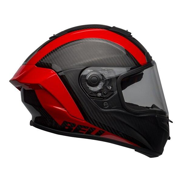 bell-race-star-flex-dlx-street-helmet-tantrum-2-matte-gloss-gray-red-right-clear-shield__89488.1601545242.jpg-Bell Street 2021 Race Star Flex DLX Adult Helmet (Tantrum 2 M/G Black/Red)