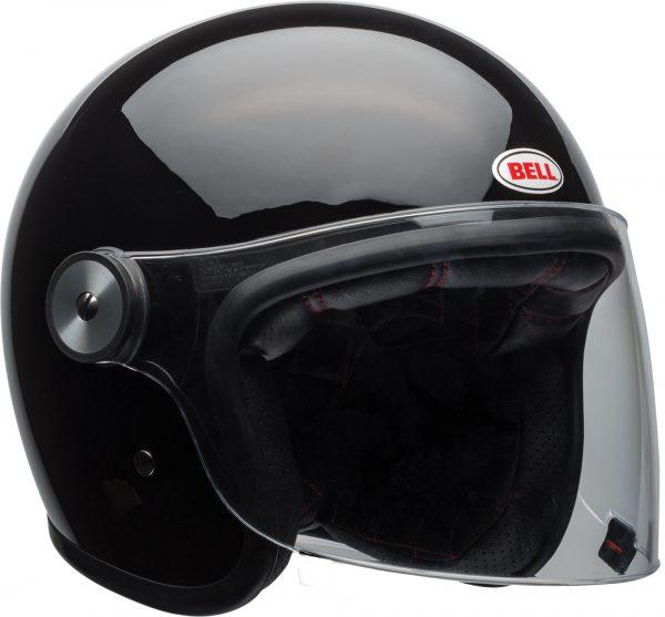 bell-riot-culture-helmet-gloss-black-clear-shield-front-right-BELL RIOT SOLID MATT BLACK
