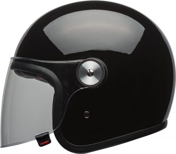 bell-riot-culture-helmet-gloss-black-clear-shield-left-BELL RIOT SOLID MATT BLACK