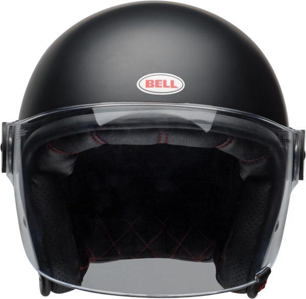 bell-riot-culture-helmet-matte-black-clear-shield-front-BELL RIOT SOLID MATT BLACK