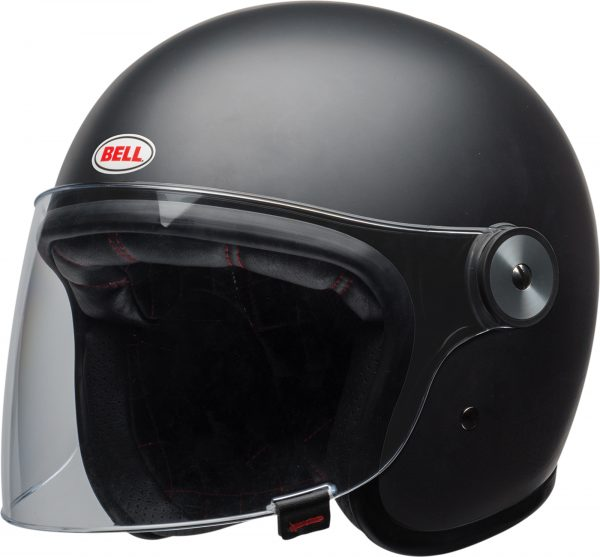 bell-riot-culture-helmet-matte-black-clear-shield-front-left-BELL RIOT SOLID MATT BLACK
