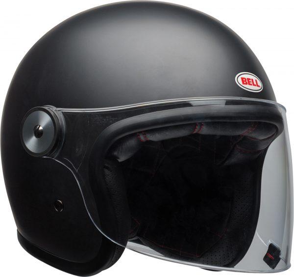 bell-riot-culture-helmet-matte-black-clear-shield-front-right-BELL RIOT SOLID MATT BLACK