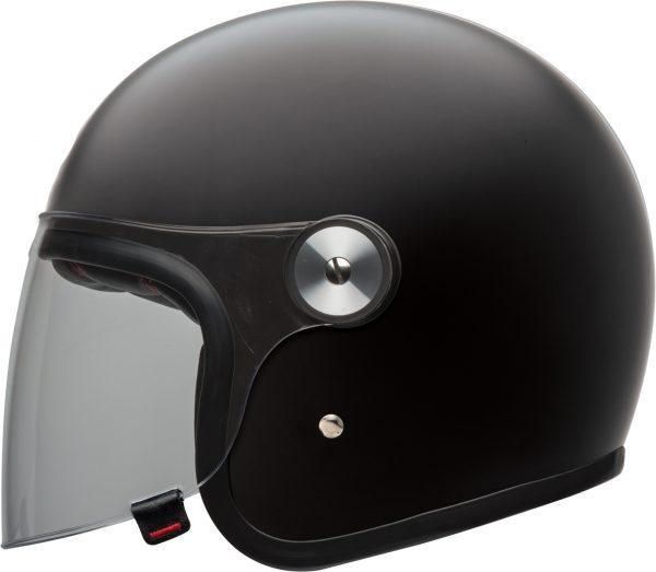 bell-riot-culture-helmet-matte-black-clear-shield-left-BELL RIOT SOLID MATT BLACK