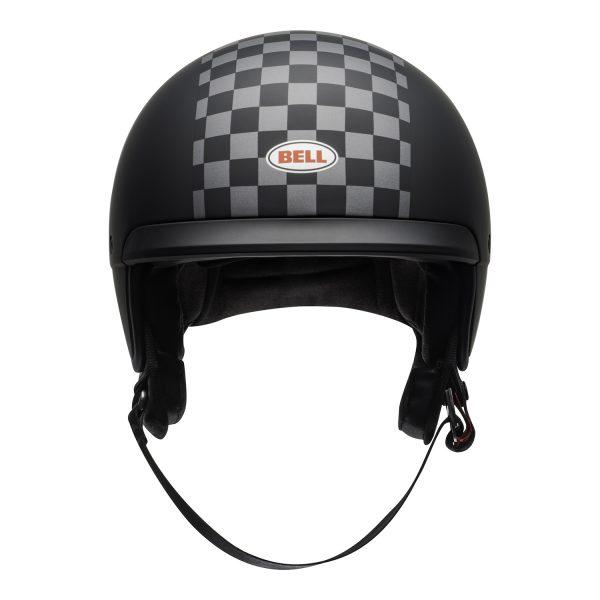 bell-scout-air-cruiser-helmet-check-matte-black-white-front.jpg-Bell Crusier 2021 Scout Air Adult Helmet (Check Matte Black/White)
