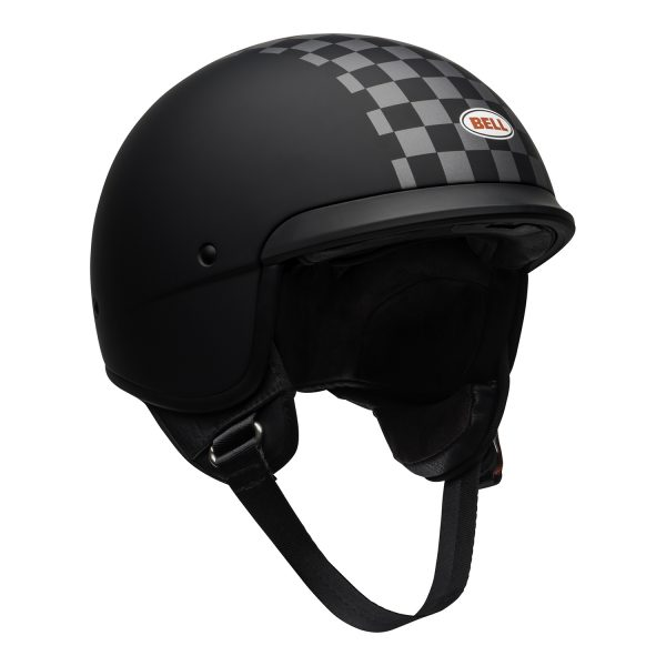 bell-scout-air-cruiser-helmet-check-matte-black-white-front-right.jpg-Bell Crusier 2021 Scout Air Adult Helmet (Check Matte Black/White)
